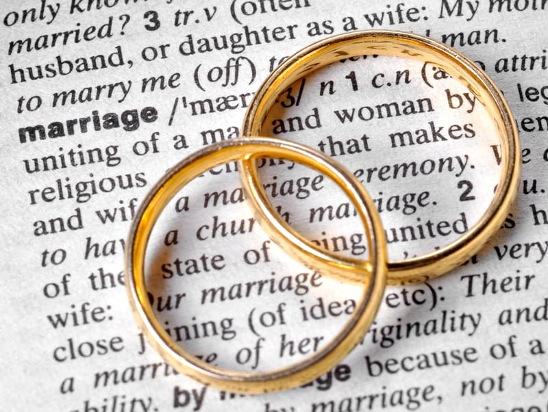 Invalidating definition of marriage