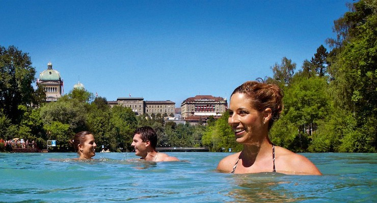 How Switzerland's best river swim became a summertime commute