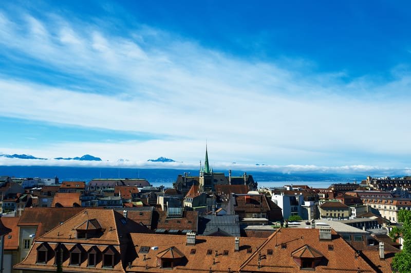 Lausanne's skyline in summer - © Haveseen | Dreamstime.com