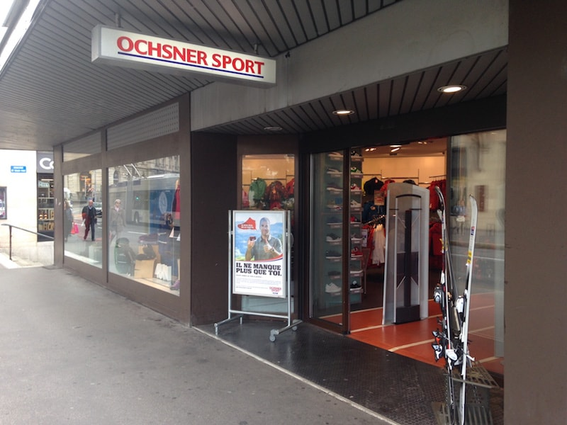 An Ochsner Sport store in Lausanne