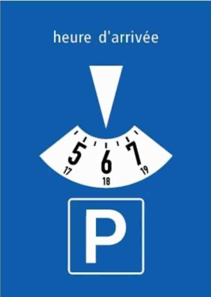 Swiss parking disk