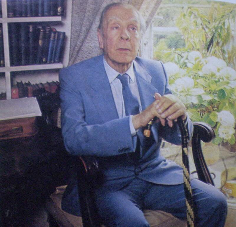 Borges in 1976 - source: Wikipedia