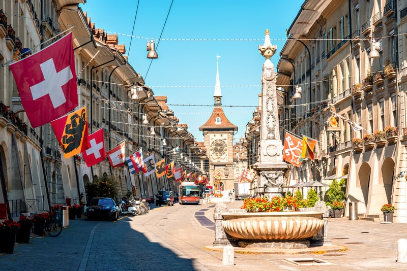 Kramgasse, Bern, where Einsteinhaus is located - © Rosshelen | Dreamstime.com