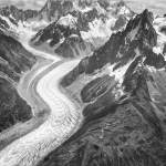 100-year time lapse shows Alpine glacier shrinkage