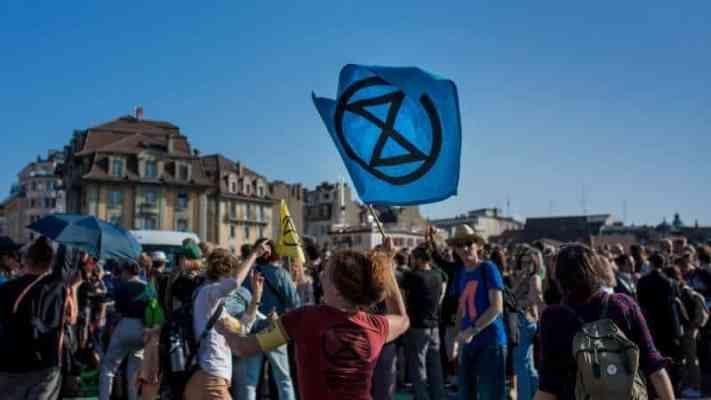 Extinction Rebellion cover photo on Facebook