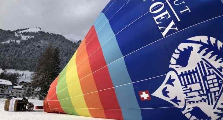 International hot air balloon festival takes to the air in the Swiss Alps