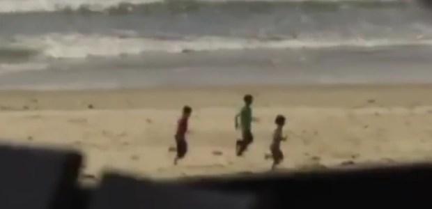 Il filmato esclusivo dell'emittente francese TF1, mostra gli ultimi istanti di vita dei 4 bambini palestinesi uccisi sulla spiaggia.