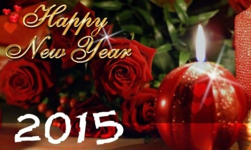 Buon Anno, Happy New Year 2015, con la speranza di pace e benessere per tutti.