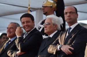 PIETRO GRASSOMATTEO RENZI SERGIO MATTARELLAANGELINO ALFANO