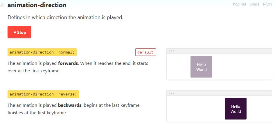 La propiedad animation de CSS