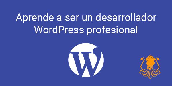 Aprende a ser un desarrollador WordPress profesional
