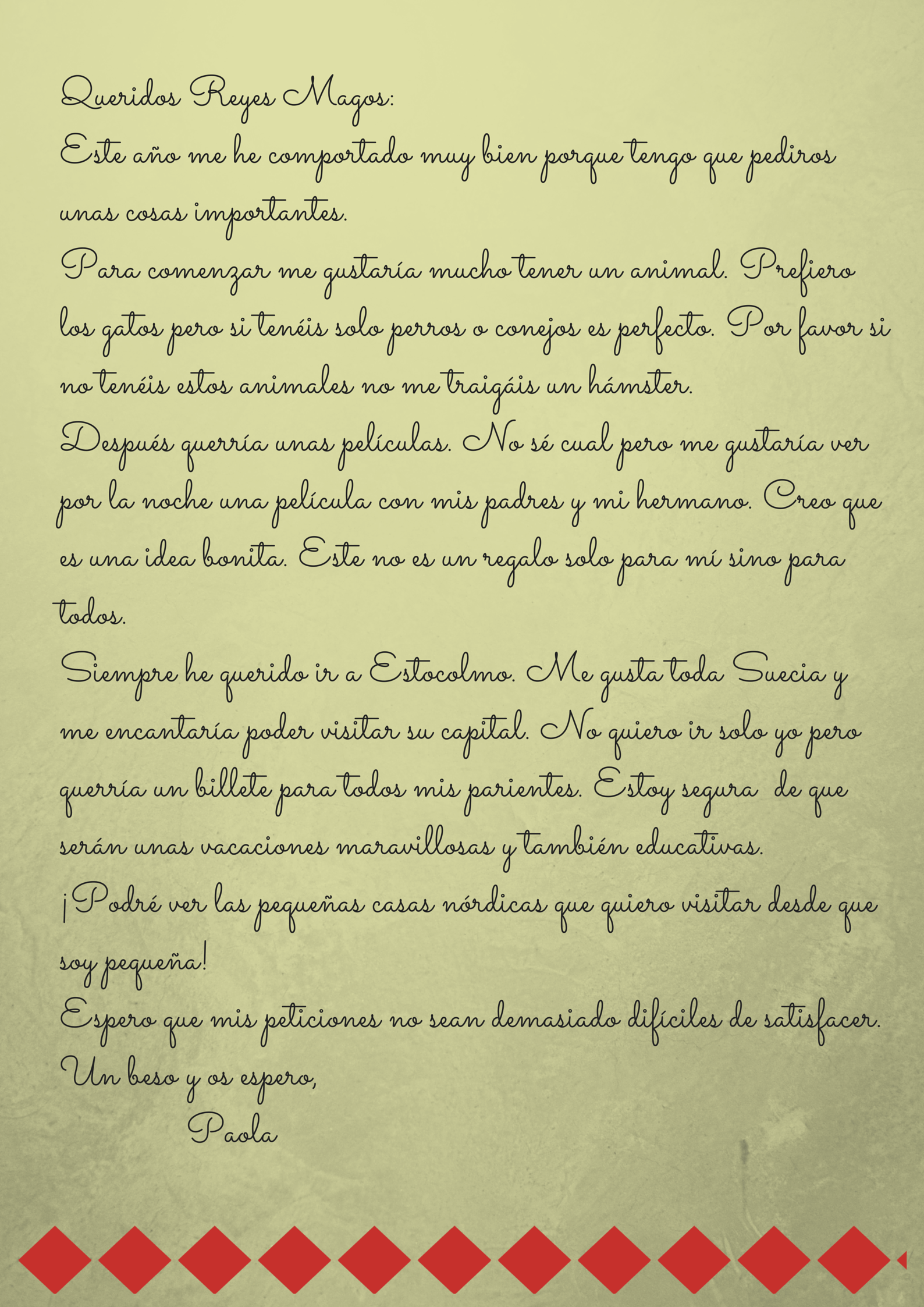 Carta A Los Reyes Magos Lenguaje Y Otras Luces