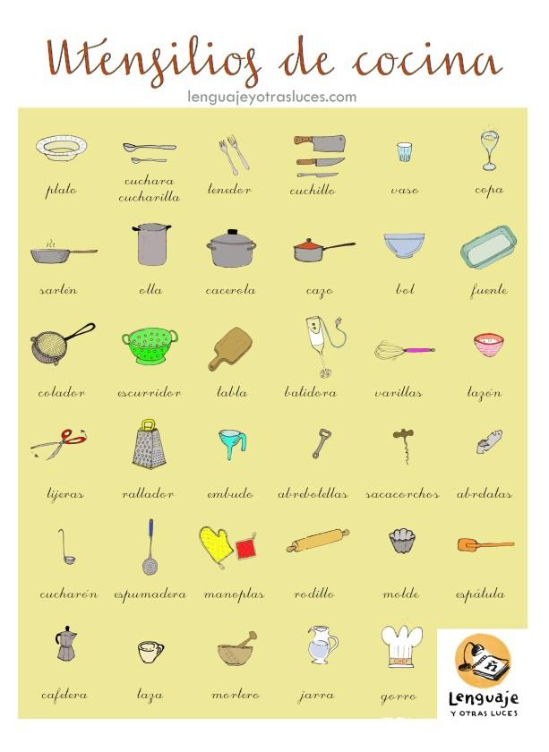 utensilios de cocina dibujo