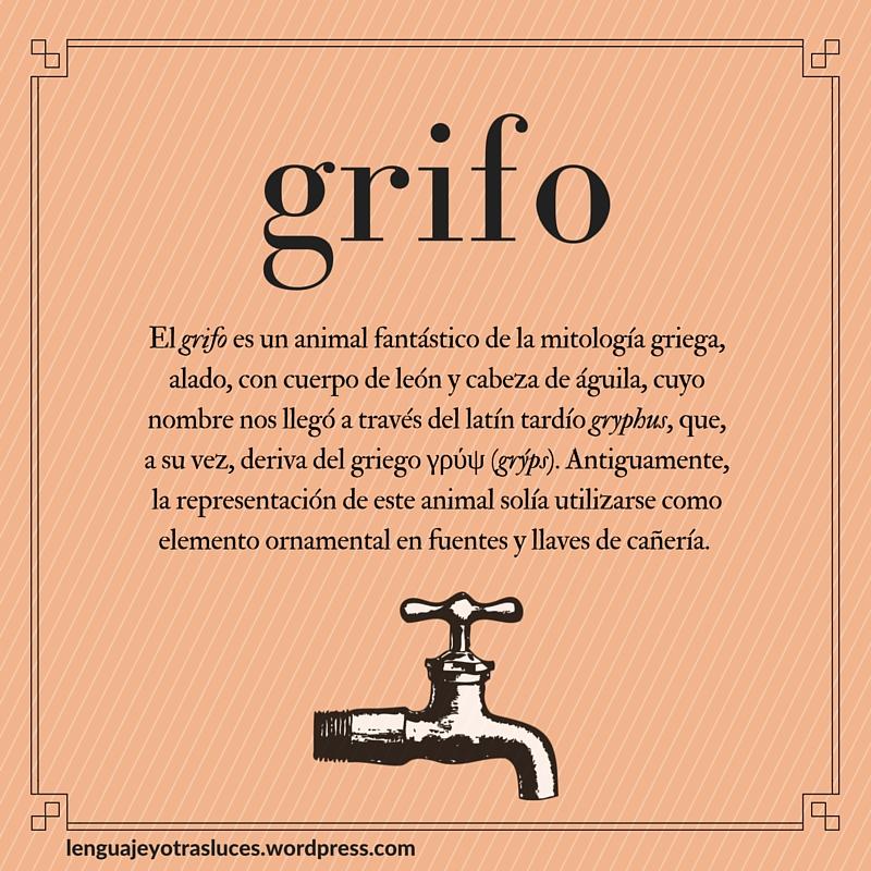 Etimologia grifo. Origen palabras