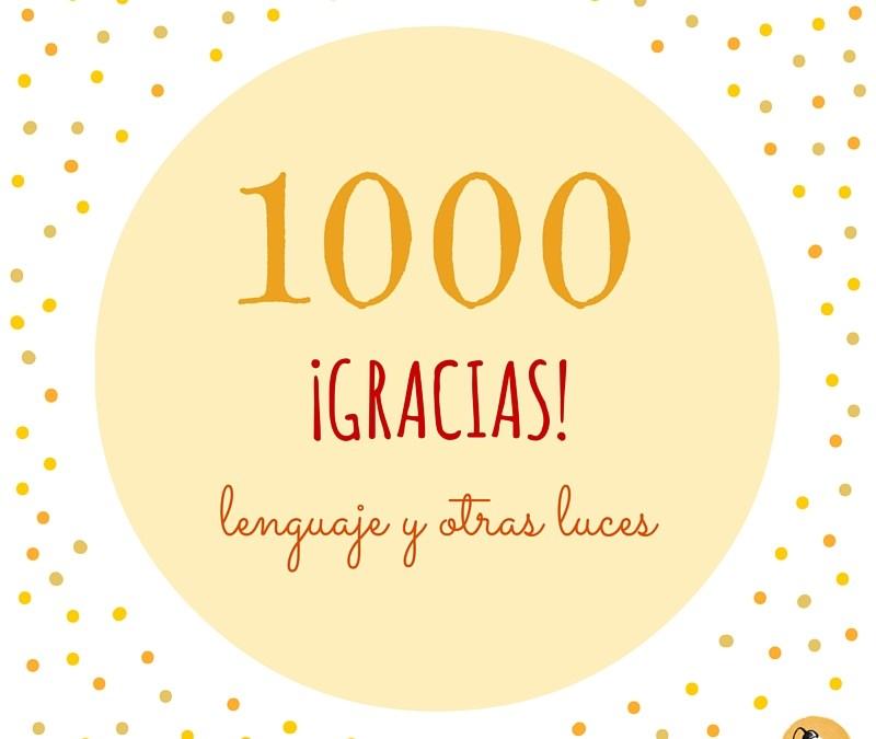 ¡Ya somos 1000!