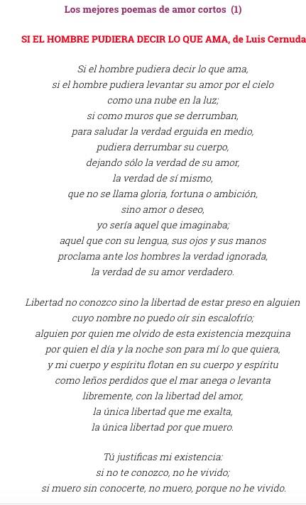 El Mejor Poema De Amor Lengua Y Literatura Fácil
