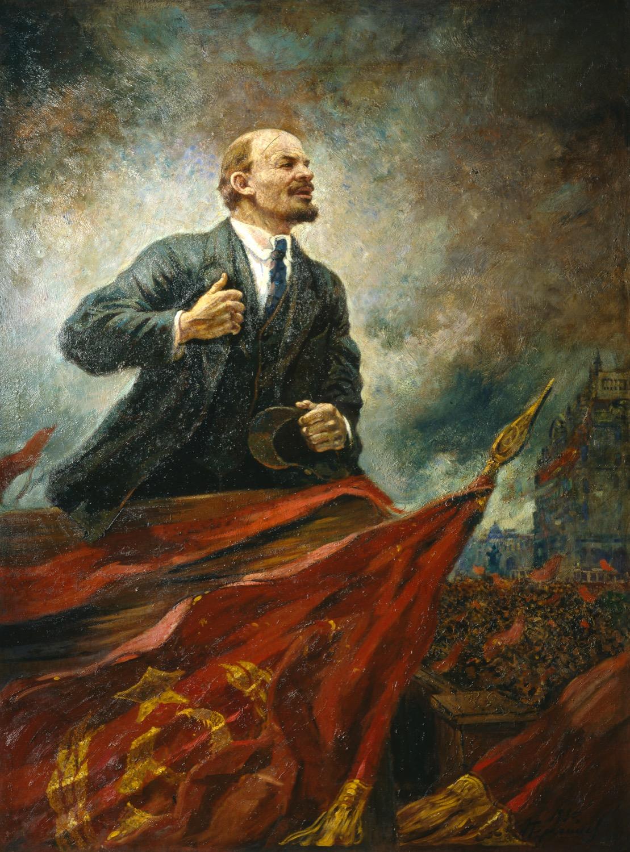 """""""V.I. Lenin on the podium"""""""