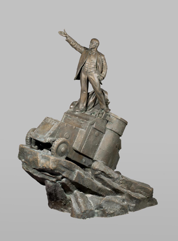 """Sculpture """"V.I. Lenin on an armored car"""""""