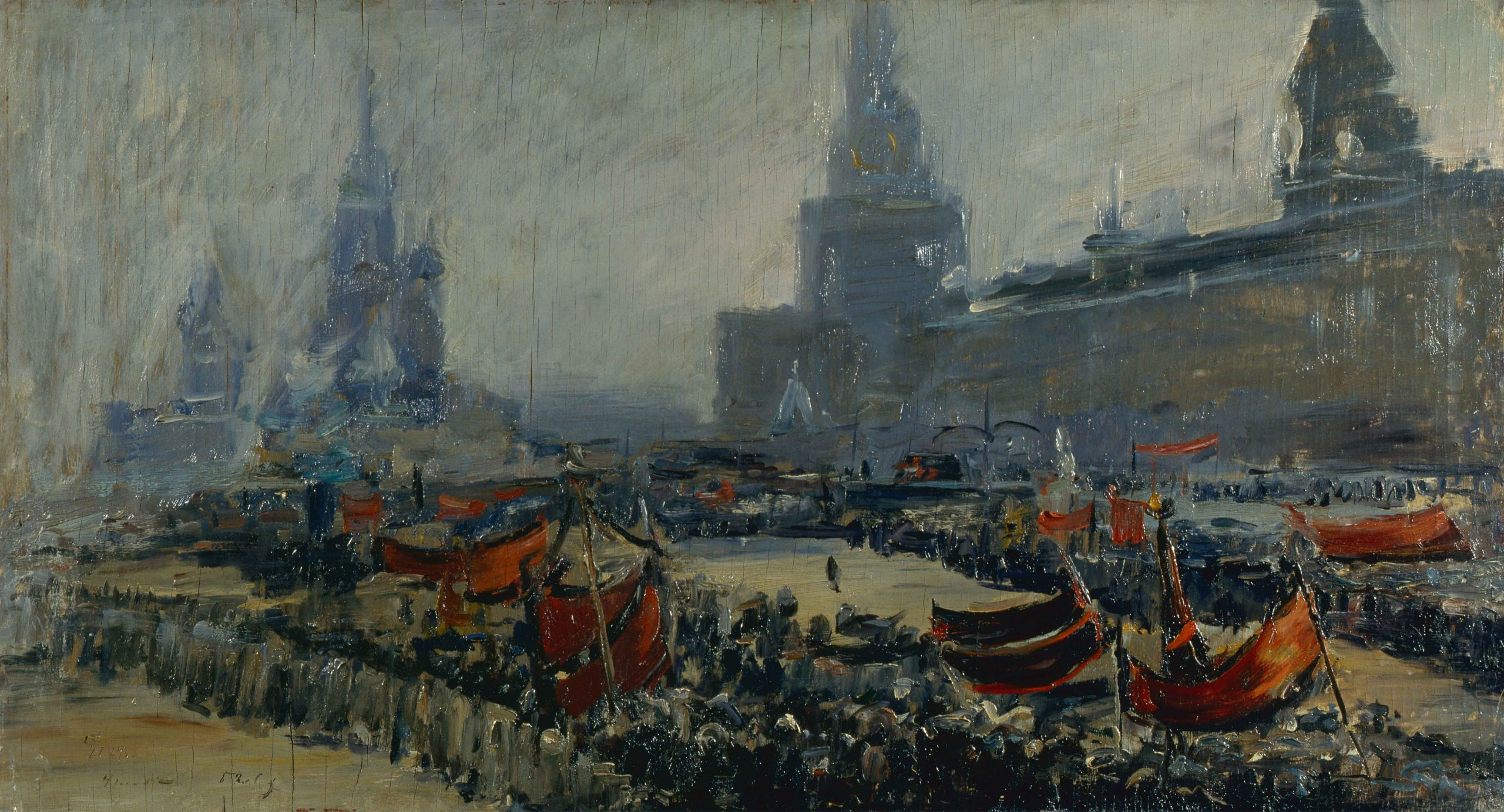 """Painting """"Mourning procession on Red Square on January 27, 1924"""""""
