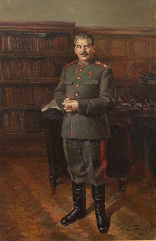 Картина «И.В. Сталин в маршальской форме в своем кабинете в Кремле»