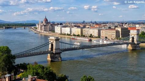 View of Chain Bridge from Buda