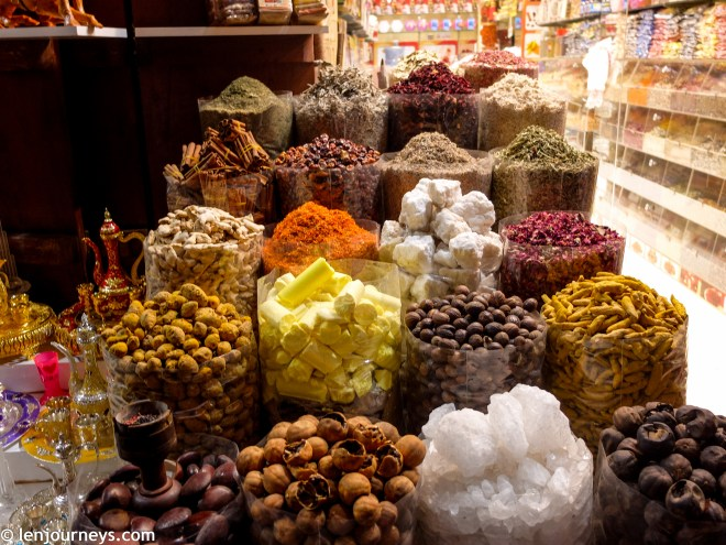 Colourful spices at Spice Souk