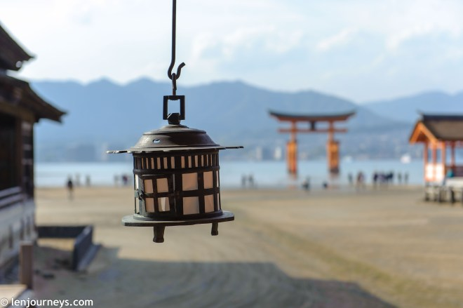 View of the Great Torii from Itsukushima Shrine