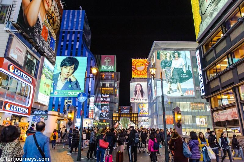 Bustling crossroad - Dotonbori & Shinsaibashi