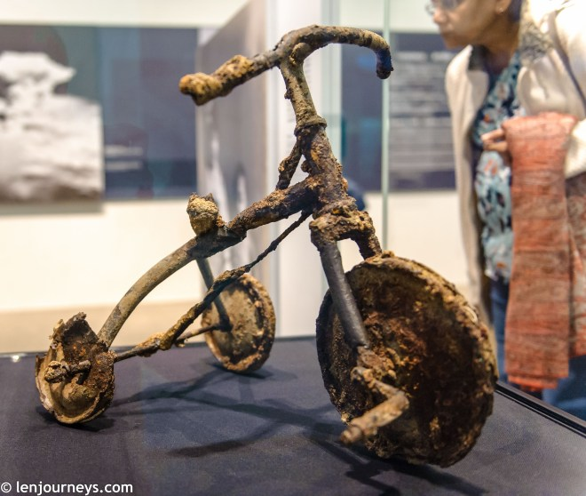 A damaged tricycle