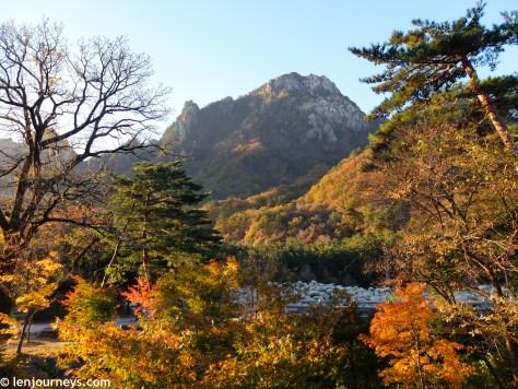 Golden hour at Seoraksan