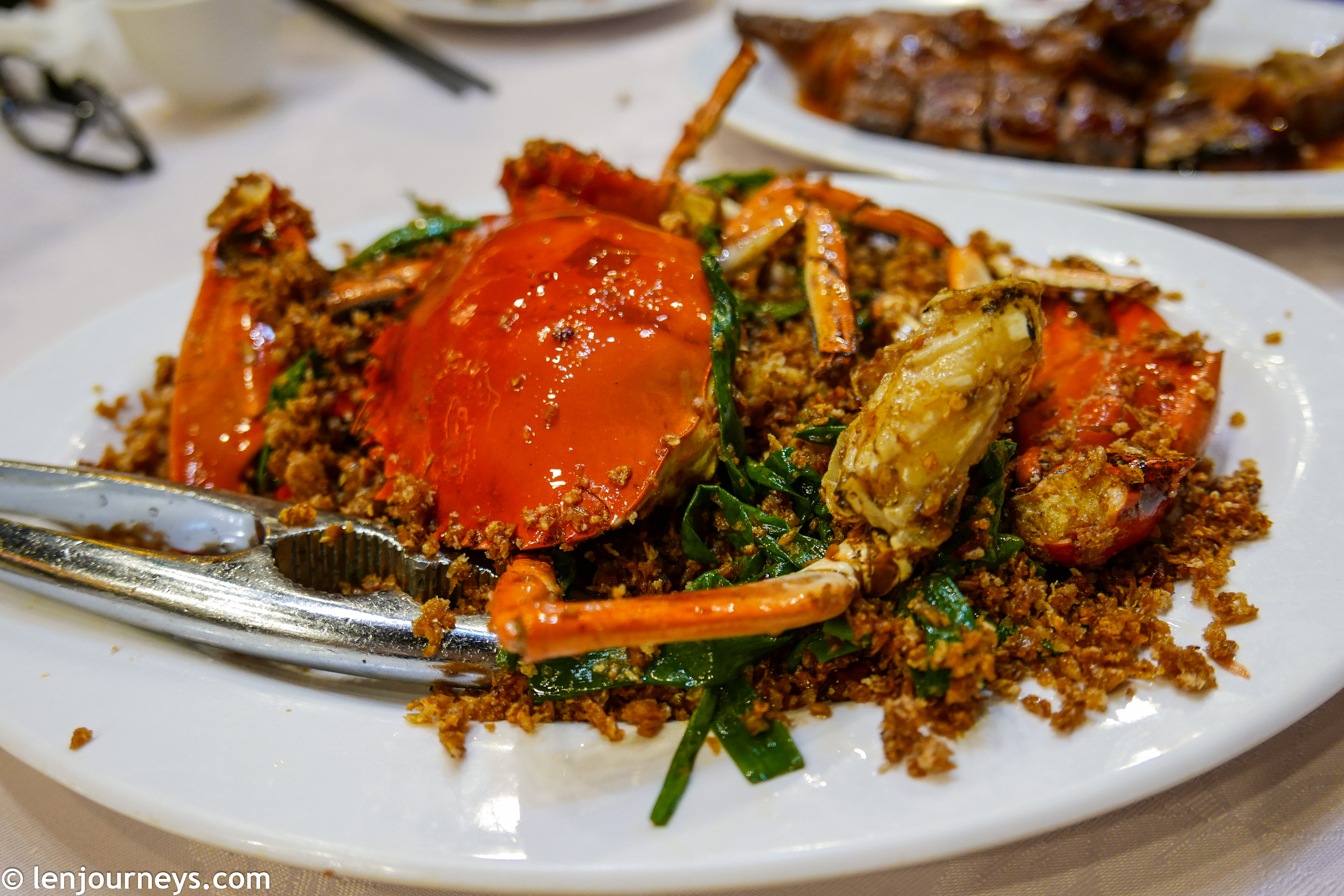 Spicy crabs, a specialty of Hong Kong