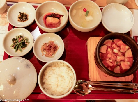 Rice and Soybean paste stew