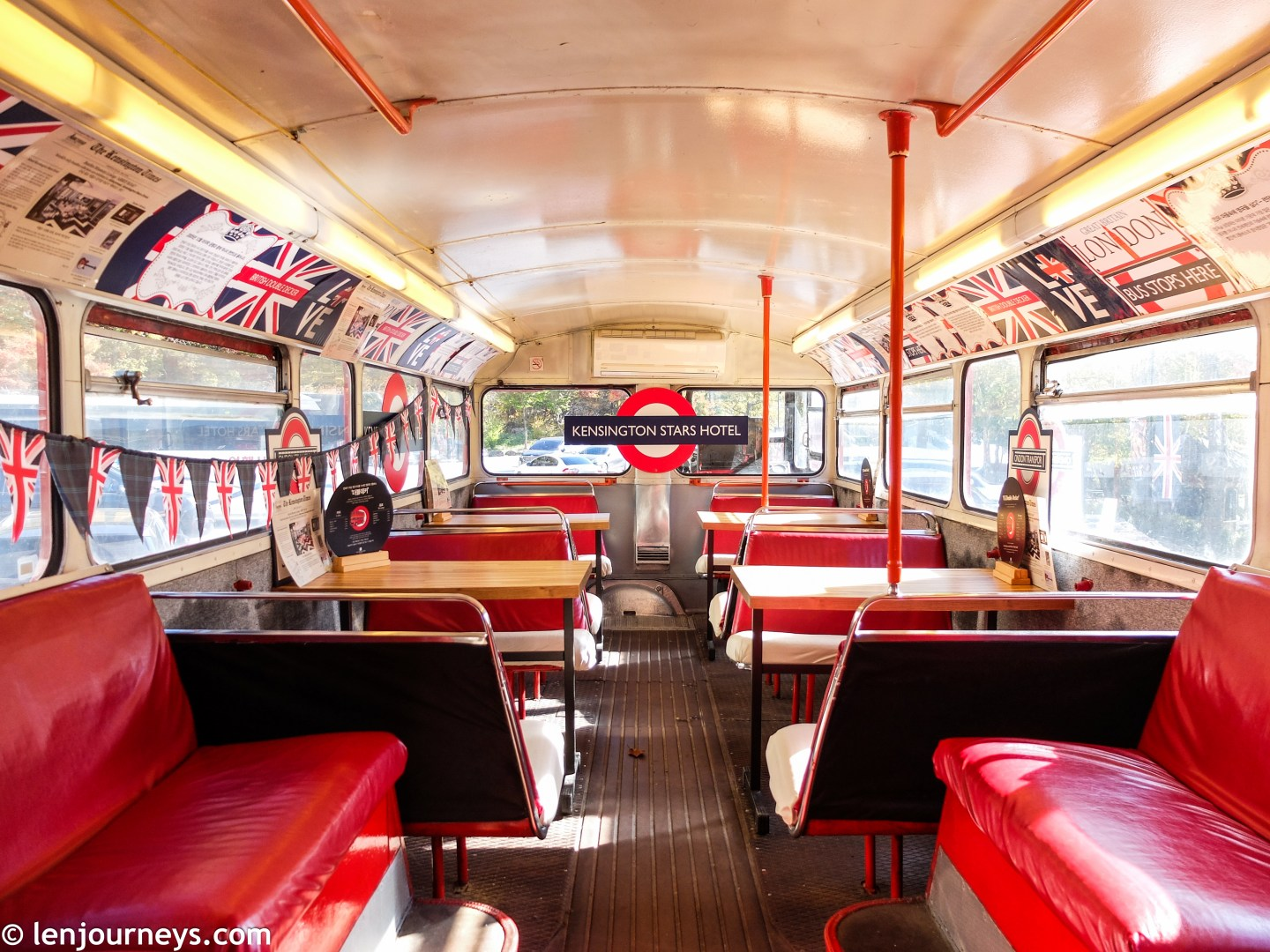 Double-decker bus cafe