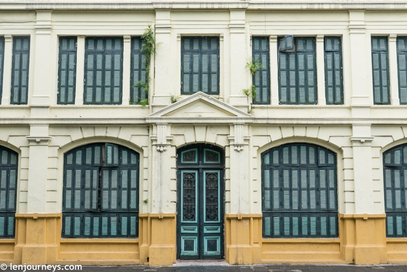 Windows and door in French architectural style