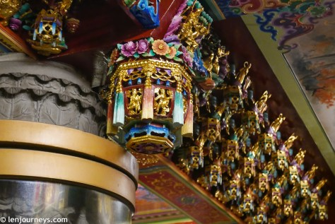 Decorative details in Lungshan Temple