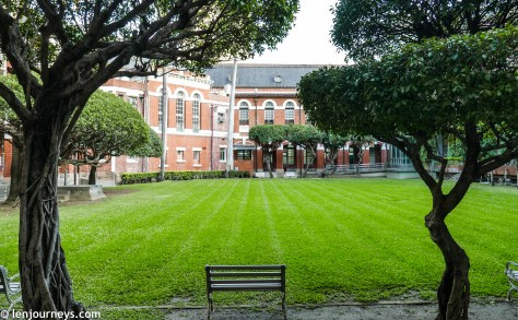 The courtyard of Taichung Prefecture Hall