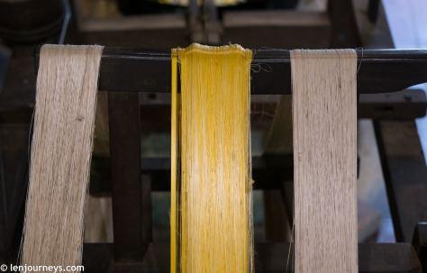 White and golden silk threads