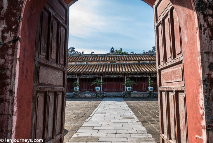 Gated courtyard in Hue Imperial City