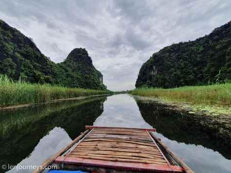 The maze of reed at Van Long, Ninh Binh