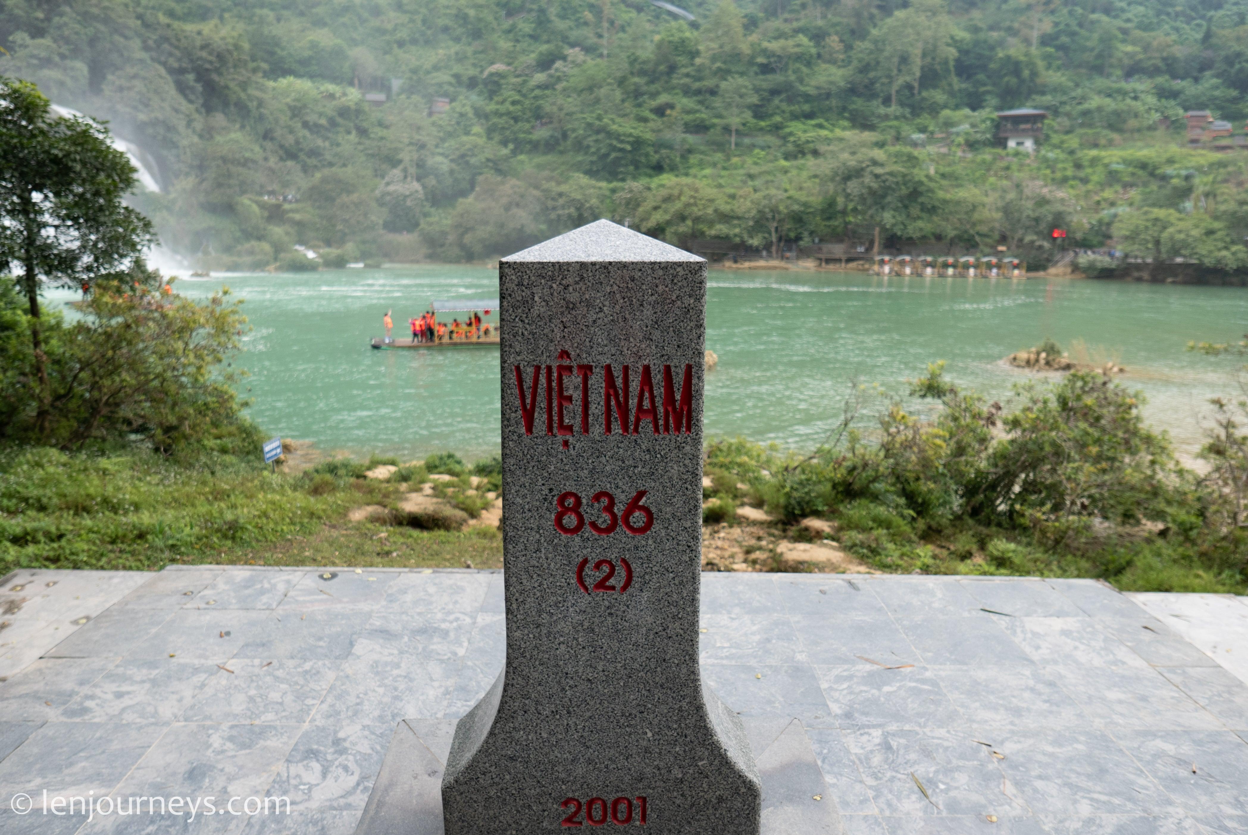 Boundary marker on Vietnamese side