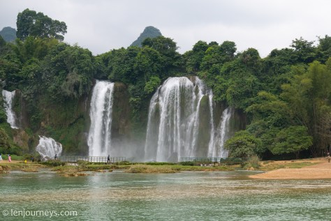 Ban Gioc Waterfall, Subordinate part