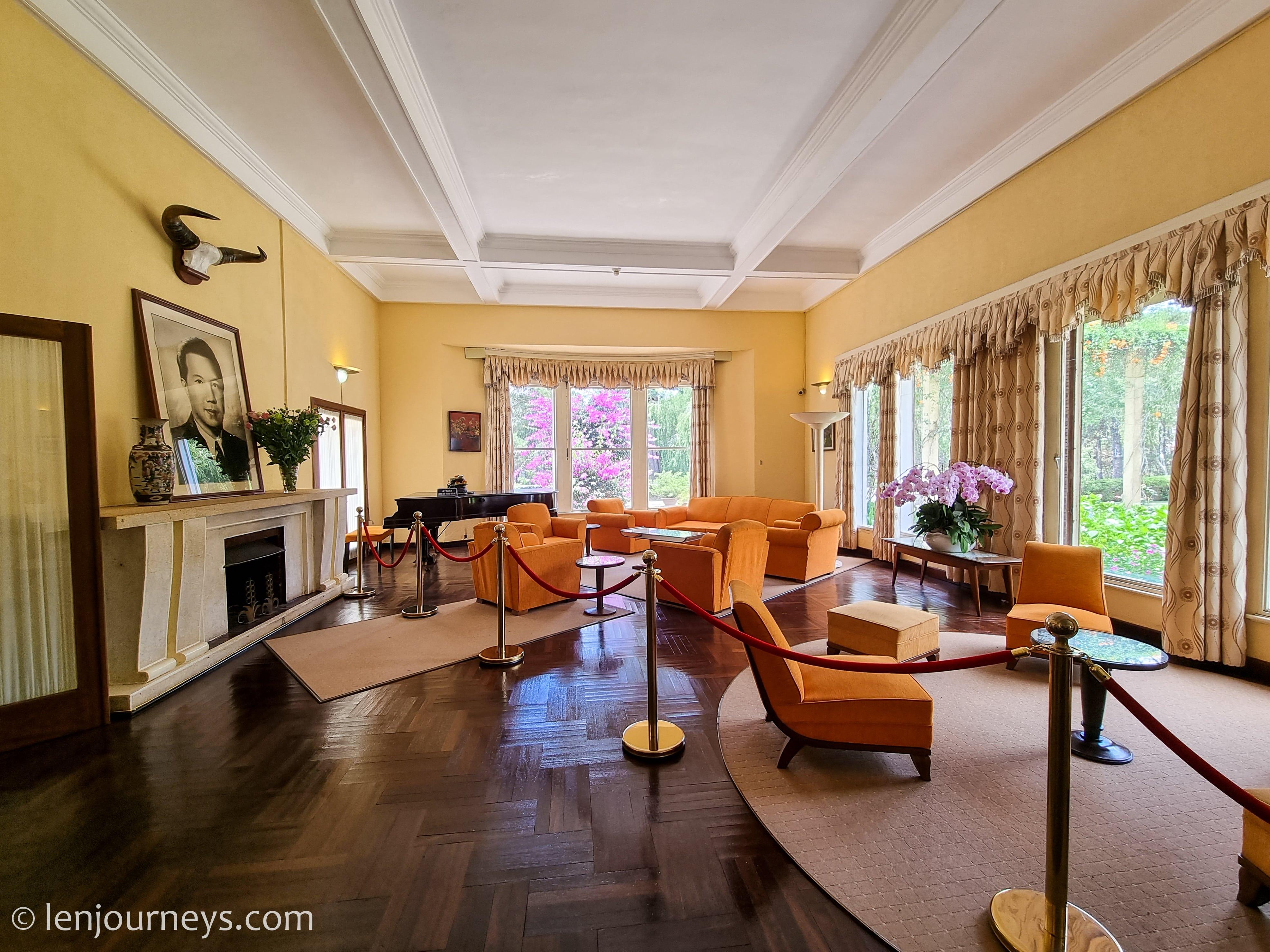 Living room of Bao Dai Residence 3