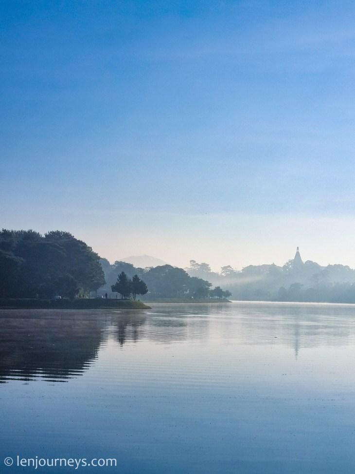 Blue hours at Xuan Huong Lake, Da Lat