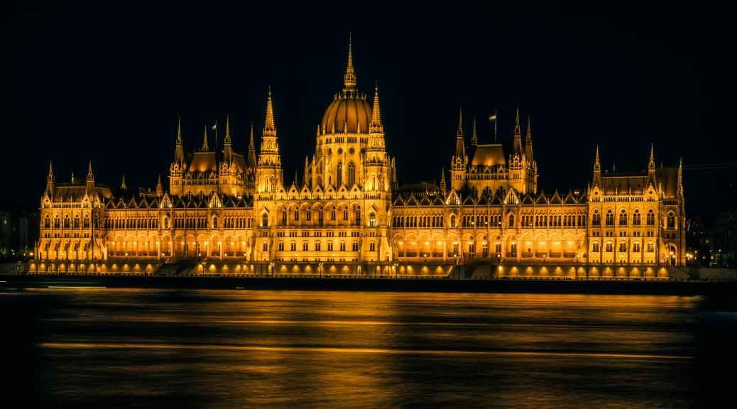 Hungarian Parliament at night