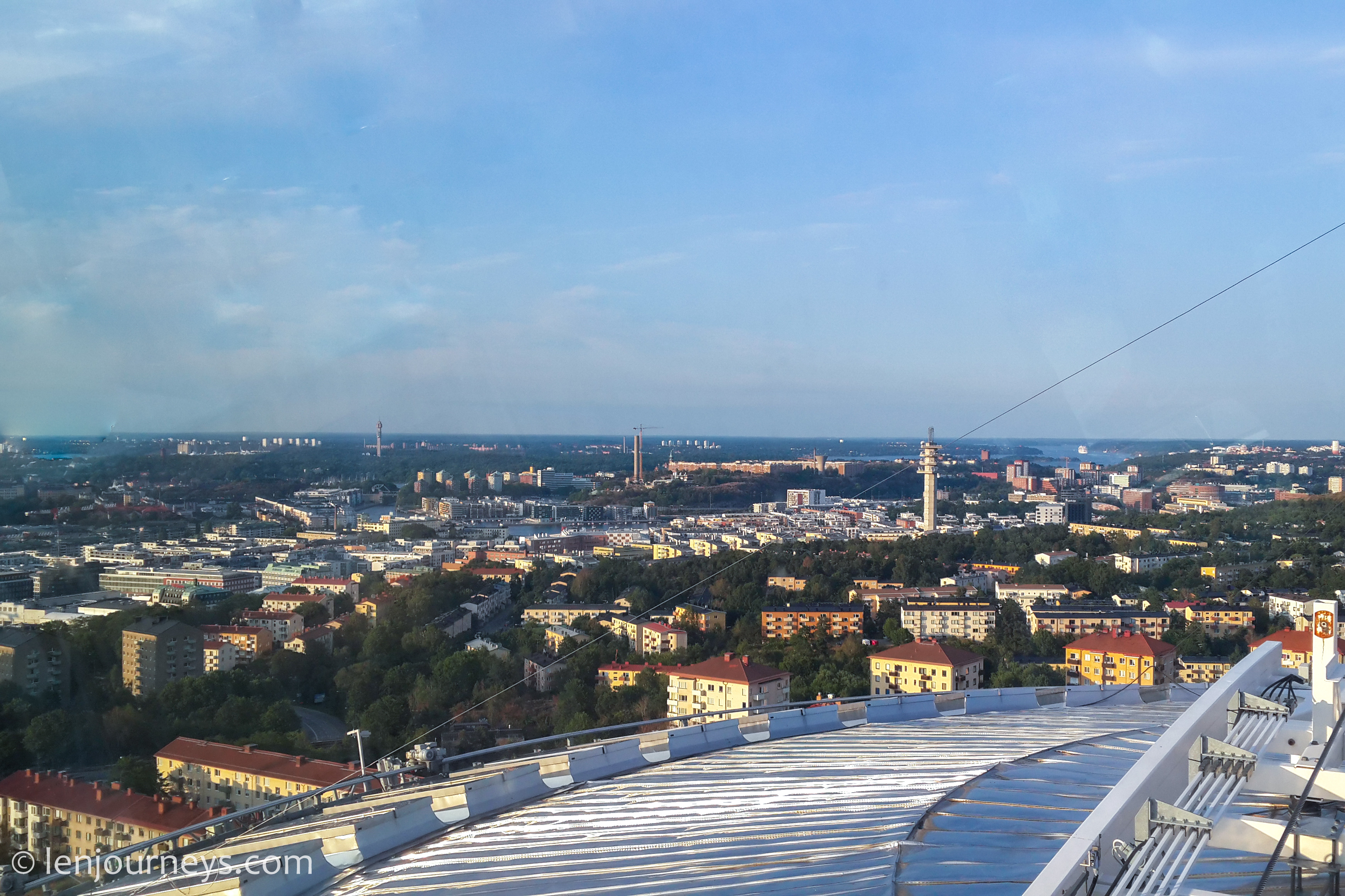 View of Stockholm from the top of the dome