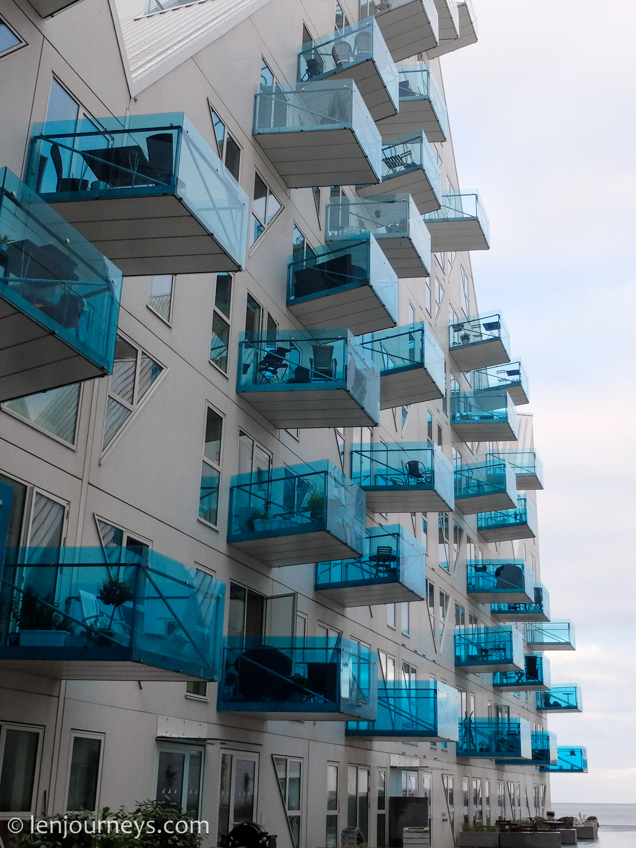 Buildings in Aarhus Ø