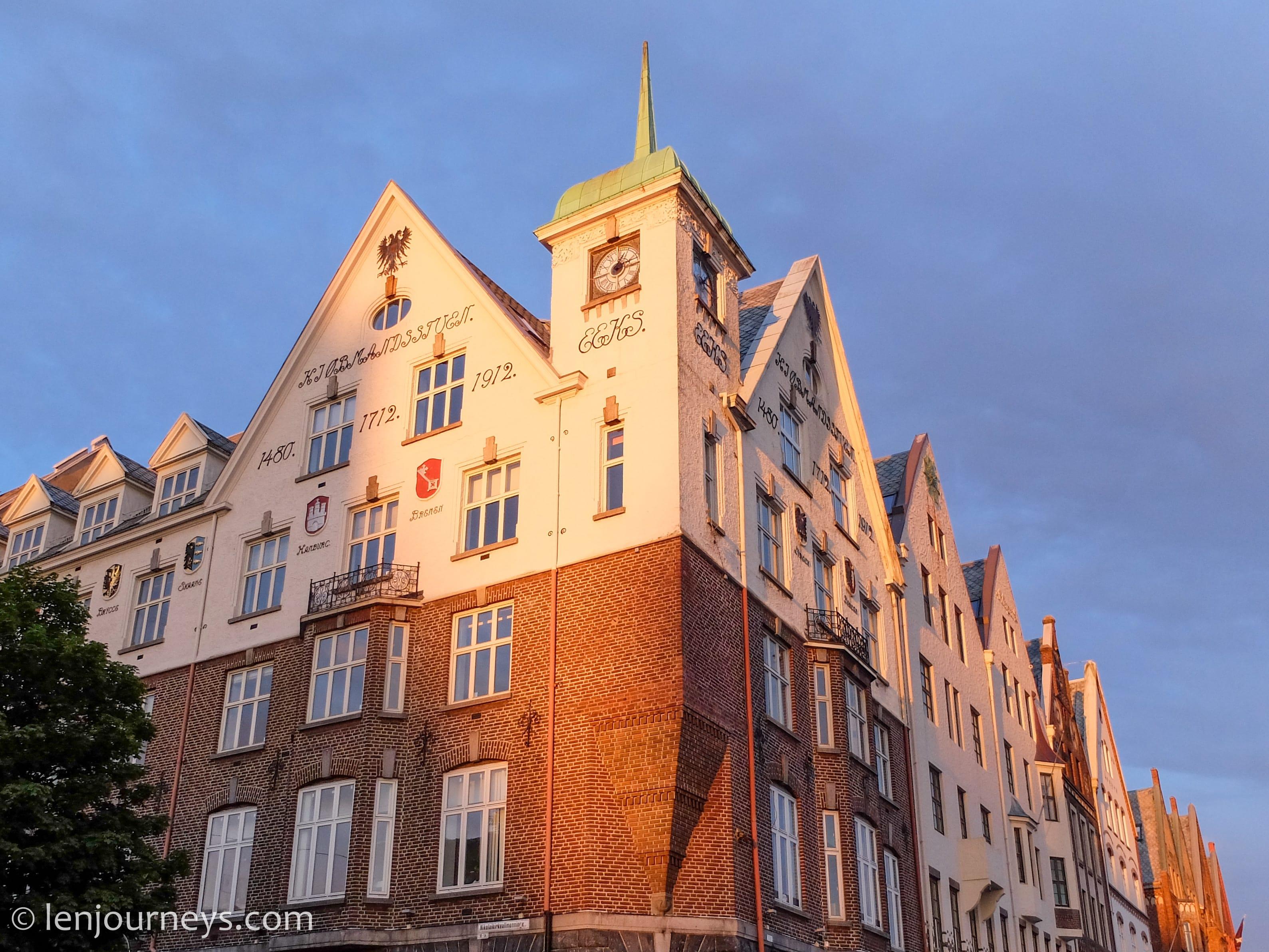 Historic building in Bryggen, Norway