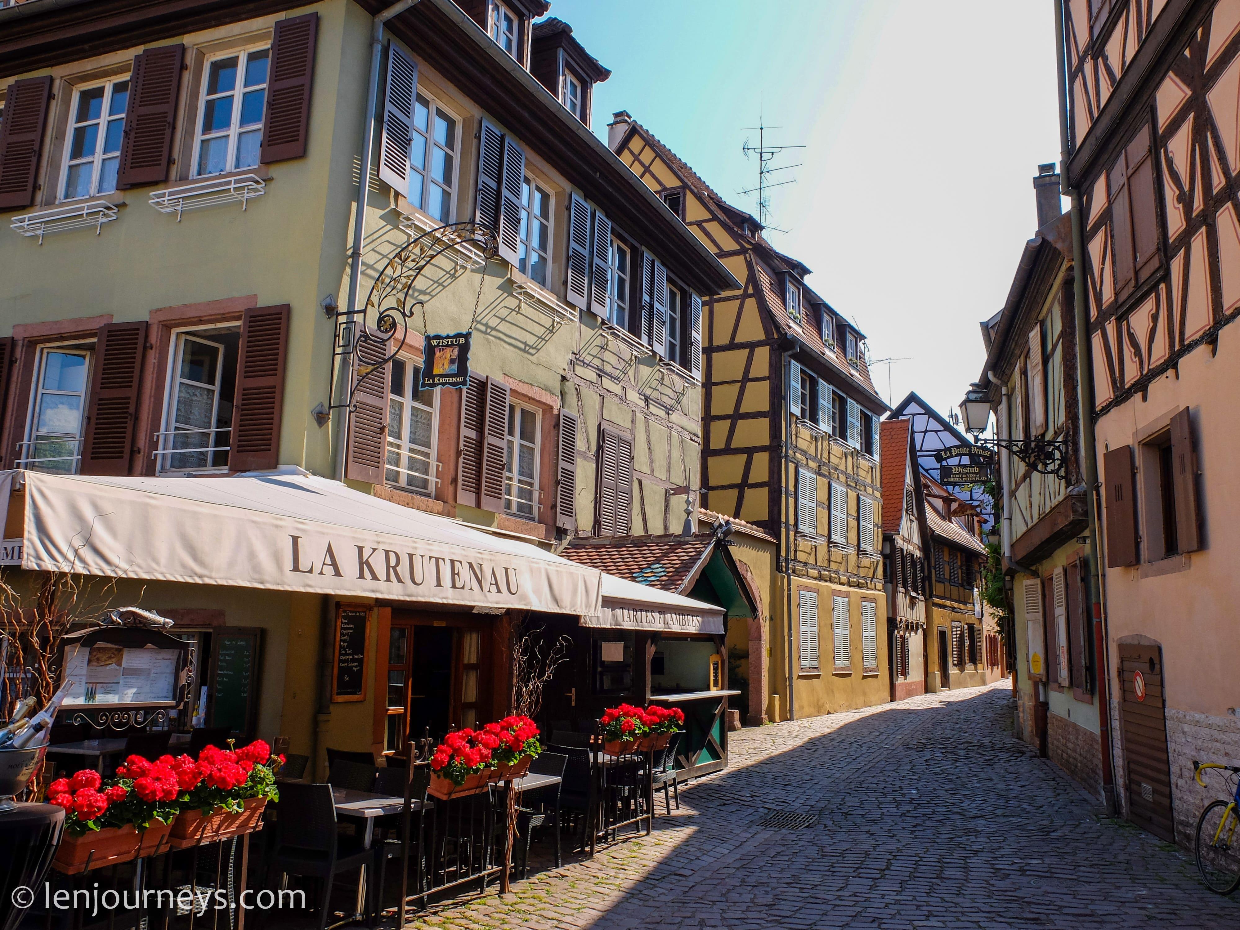 Cobblestone alley in Colmar