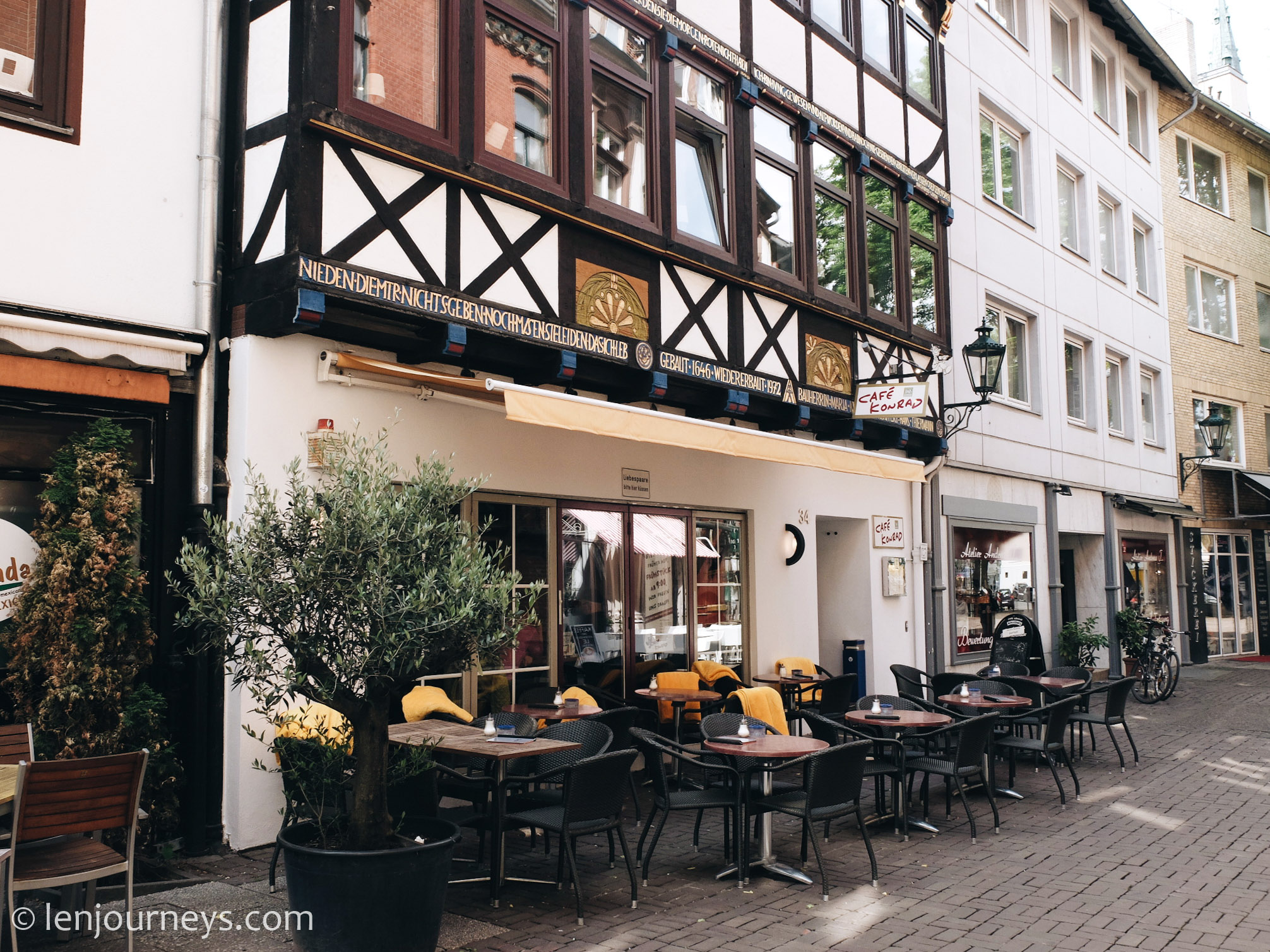 Half-timbered house in Hanover