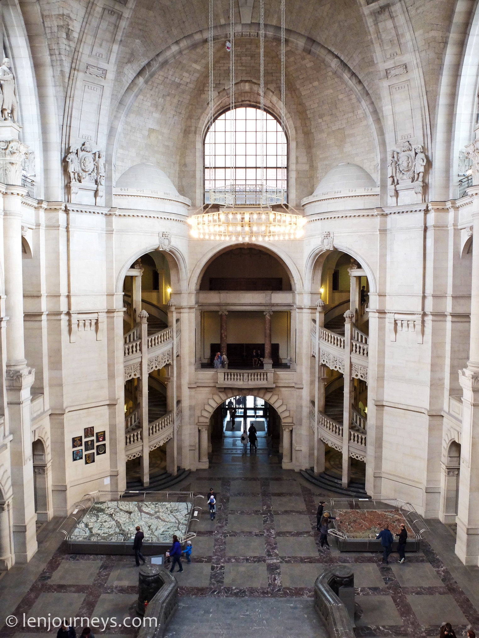 The interior of the New City Hall, Hanover